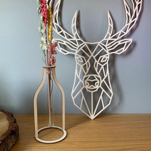 Houten hert wanddecoratie