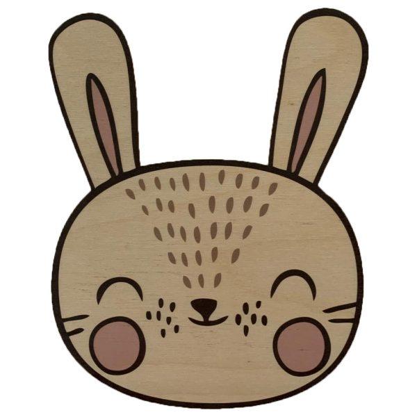 Houten konijn wanddecoratie
