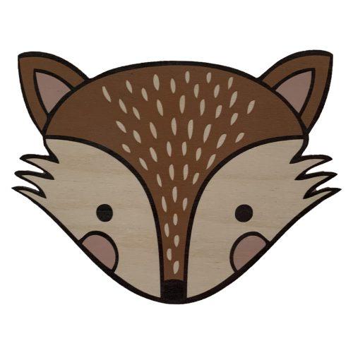 Houten vosje wanddecoratie