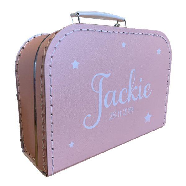 Kartonnen koffertje met naam