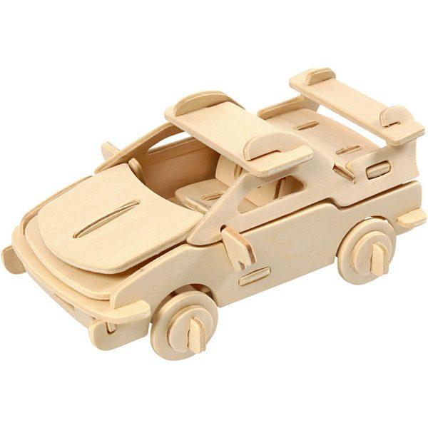 3D Houten constructieset auto