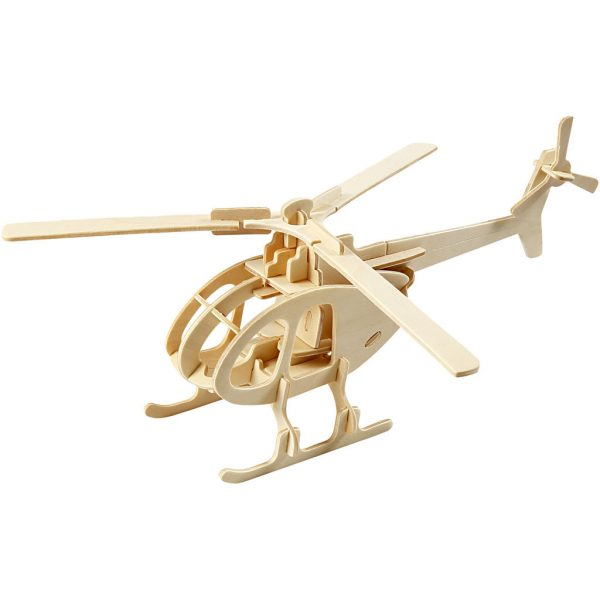 3D Houten constructieset helikopter