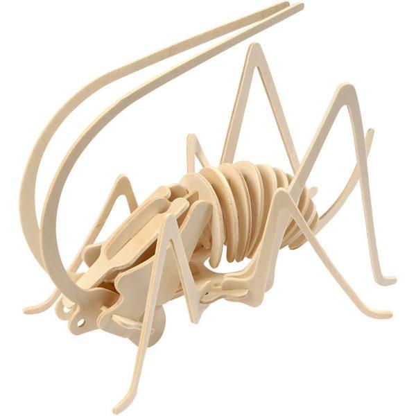 3D Houten constructieset krekel