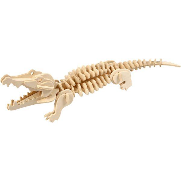 3D Houten constructieset krokodil