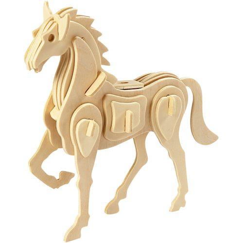 3D Houten constructieset paard