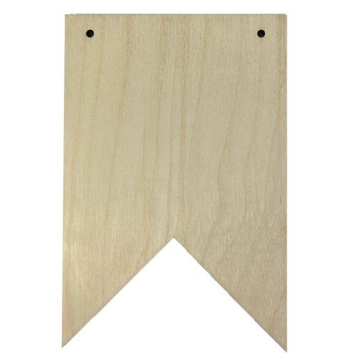 Blanco houten vlaggetje