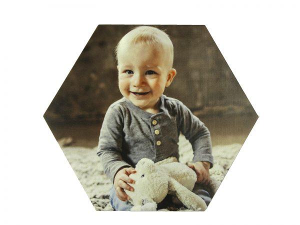 Foto op hout hexagon