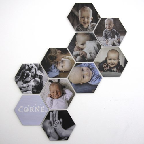 Foto op hout - hexagons