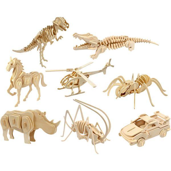 Houten 3D figuur - DIY Pakket