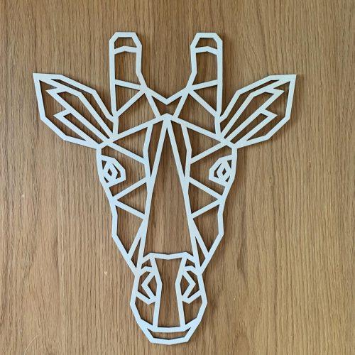 Houten giraf geometrisch