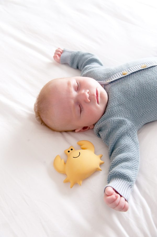 Rubberen krab met baby - Tikiri