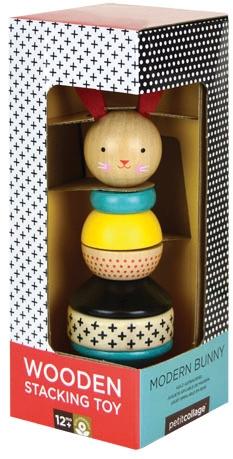Stapeltoren konijn in doos - Petit Collage