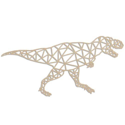 Geometrische dino rex - Echt Uniek