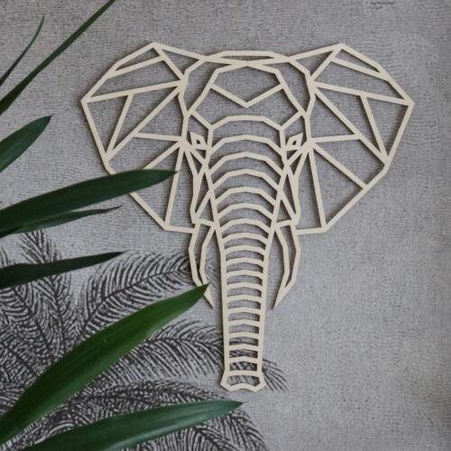 Houten dierenkop olifant